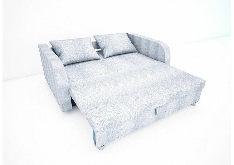 Диван Раевская мебельная фабрика Малыш с подлокотниками рогожка серая+квадраты 00611 - фото 4
