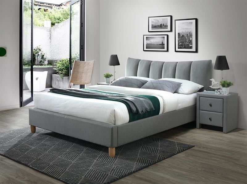 Кровать Halmar Sandy 2 160 (серый/бук) - фото 1