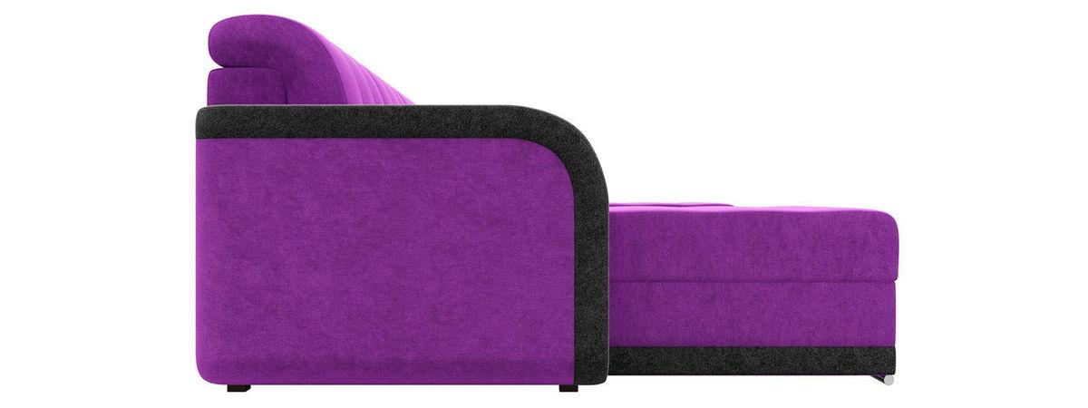 Диван Mebelico Марсель п-образный велюр фиолетовый/черный - фото 4