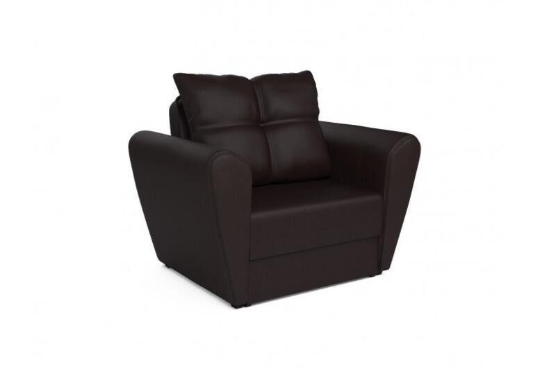 Кресло Craftmebel Квартет - экокожа шоколад - фото 1