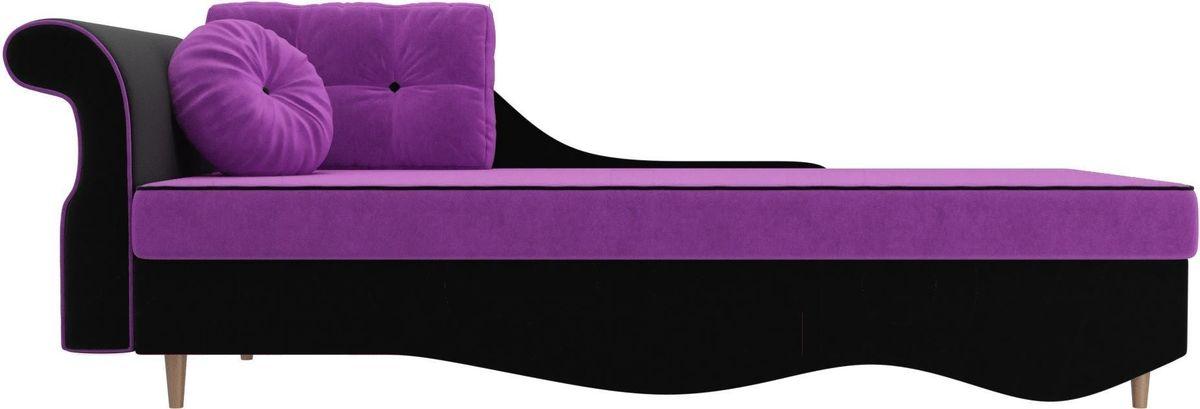 Диван Mebelico Лорд левый 101226 микровельвет фиолетовый/черный - фото 4