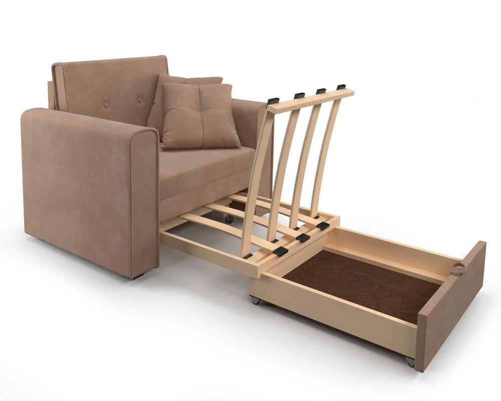Кресло Мебель-АРС Санта (велюр бежевый - Luna 061) - фото 7
