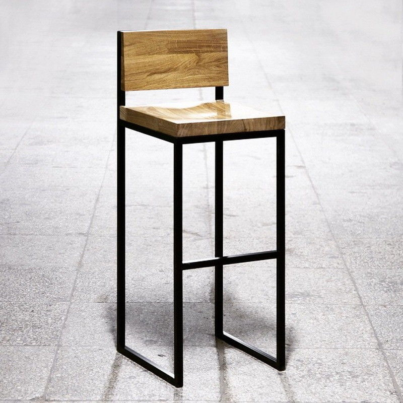 Барный стул ИП Мандрик И.С. Класик со спинкой 35x35 - фото 1