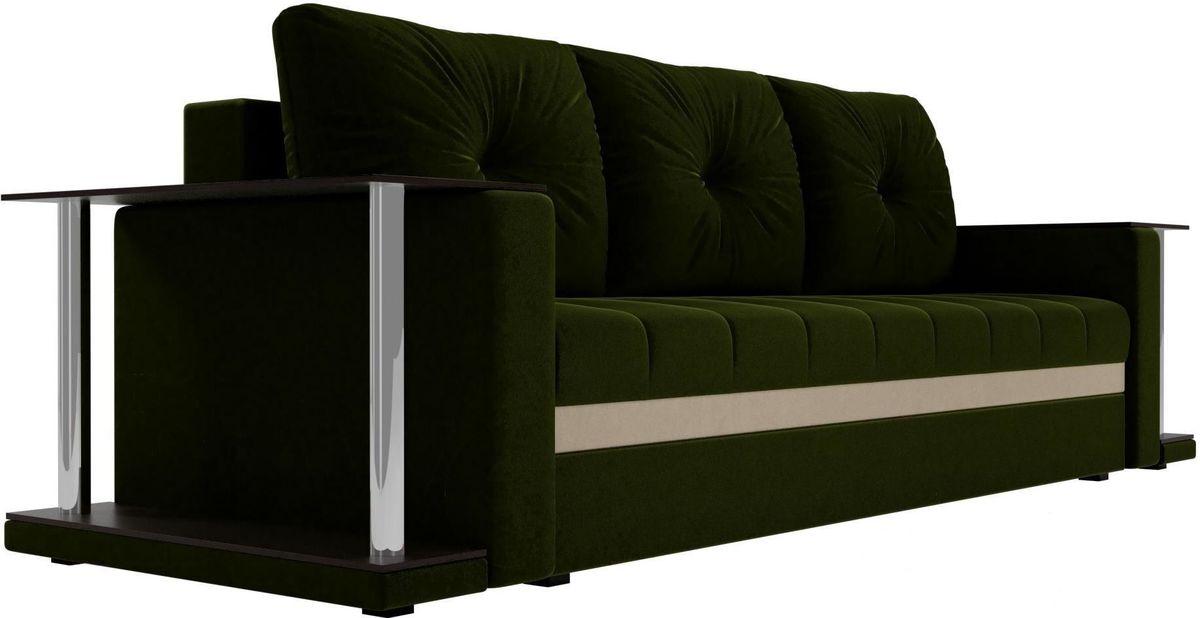 Диван Mebelico Атланта М 2 стола вельвет зеленый - фото 5