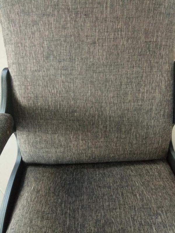 Кресло Бастион 4-2 с подножкой рогожка темная - фото 5