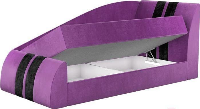 Диван Mebelico Мустанг 11 59088 микровельвет фиолетовый - фото 2