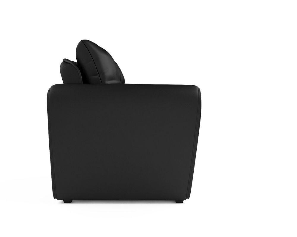 Кресло Мебель-АРС Квартет - экокожа черная - фото 3