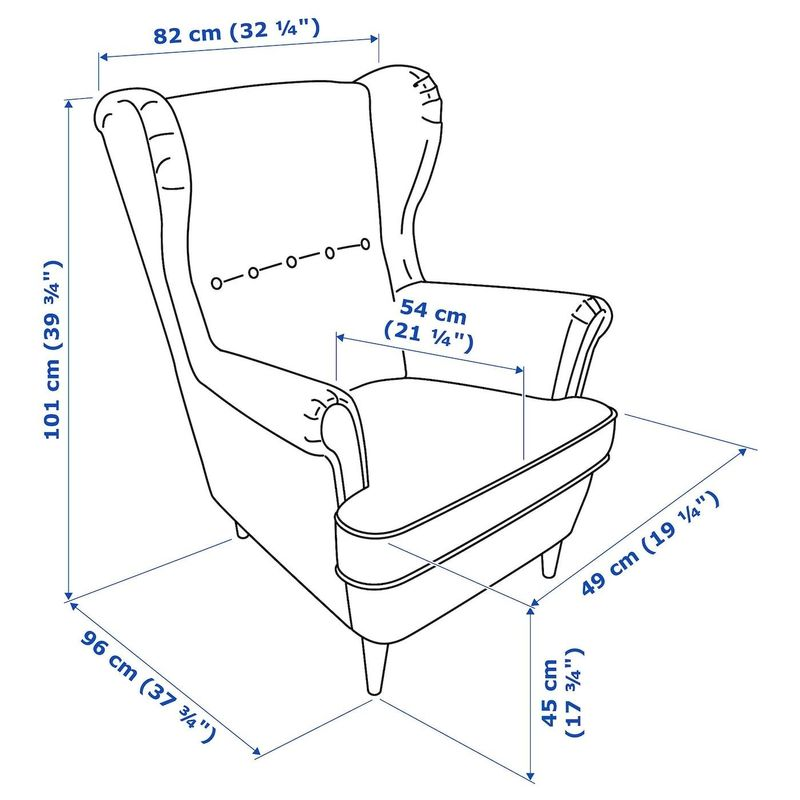 Кресло IKEA Страндмон 904.198.85 - фото 4