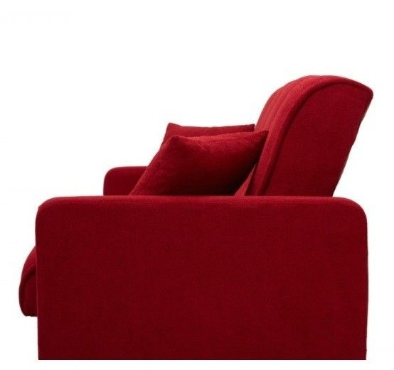 Диван Луховицкая мебельная фабрика Милан (Астра красный) пружинный 140x190 - фото 6