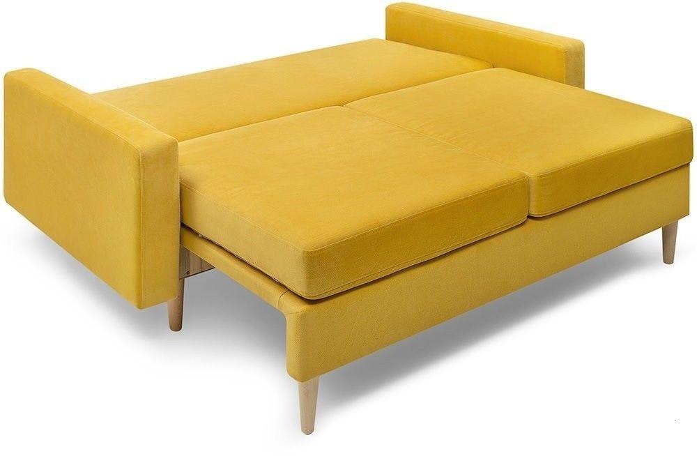 Диван Woodcraft прямой Динс-2 Velvet Yellow - фото 3