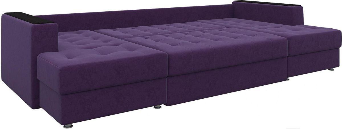 Диван Mebelico Эмир-П 85 микровельвет фиолетовый - фото 3