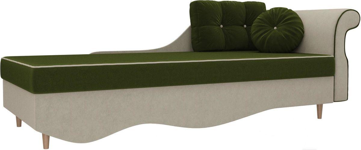 Диван Mebelico Лорд правый 101222 микровельвет зеленый/бежевый - фото 1