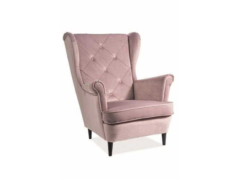 Кресло Signal LADY Velvet Bluvel 52 (античный розовый) LADYV52 - фото 1