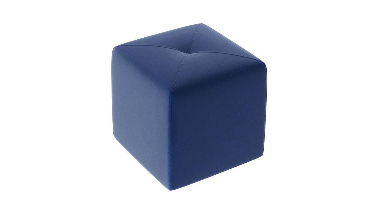 Пуфик ТриЯ Тип 6 (Велюр Синий) - фото 2