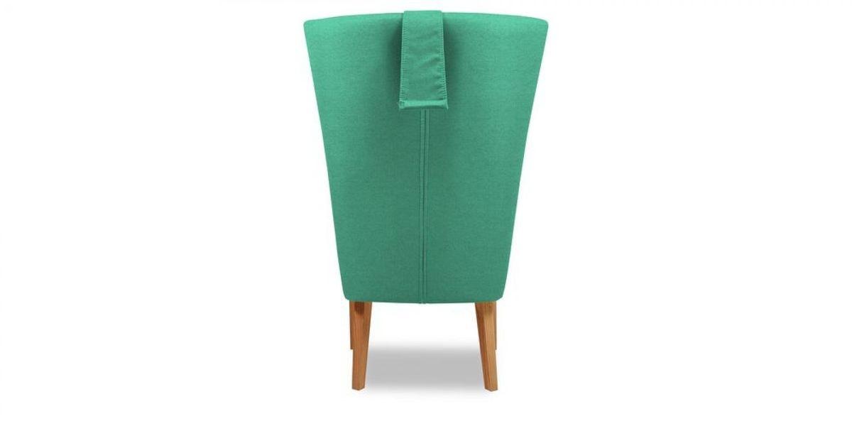 Кресло WOWIN Элеганза высокое (Бирюзово-голубая микророгожка) - фото 5