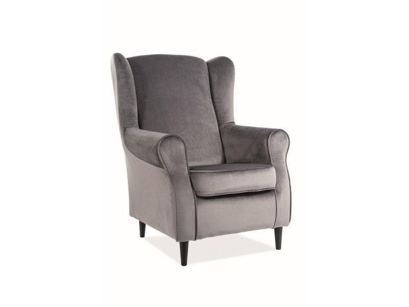 Кресло Signal BARON Velvet Bluvel 14 (серый) BARONV14 - фото 1