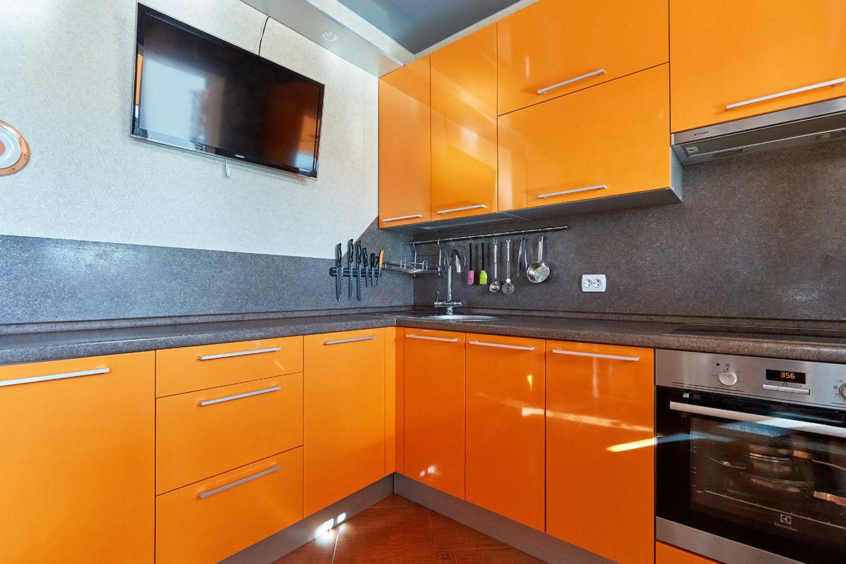 Кухня Шеф кухни из пластика Оранжевый апельсин - фото 3