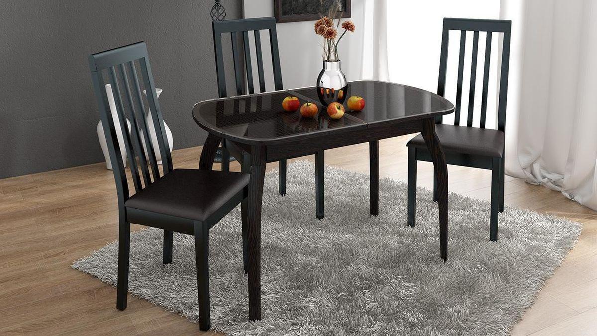 Обеденный стол ТриЯ Ницца 2 раздвижной на деревянных ножках - фото 8