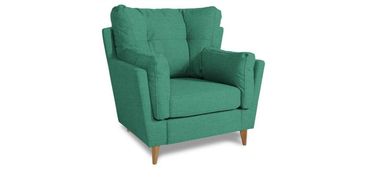 Кресло WOWIN Хюгге (Бирюзово-голубая микророгожка) - фото 1
