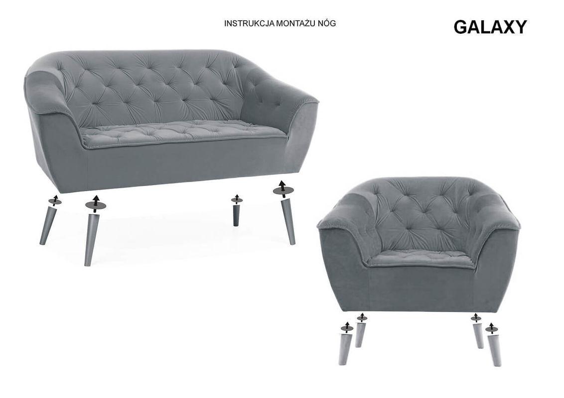 Кресло Signal GALAXY 2 VELVET (серый) GALAXY2V14BU - фото 2
