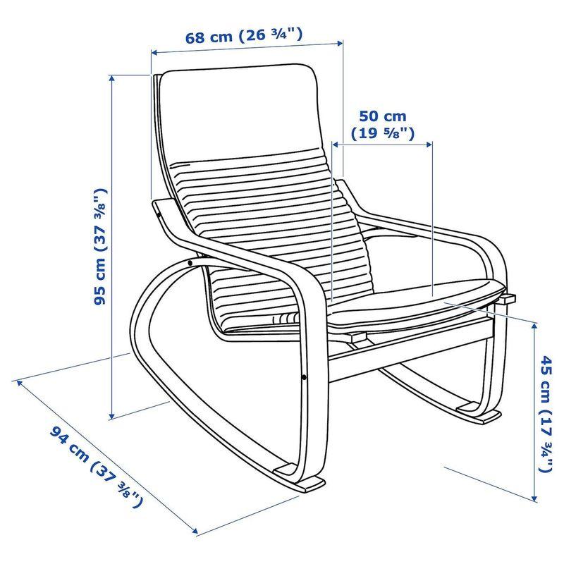 Кресло IKEA Поэнг 892.515.37 - фото 4