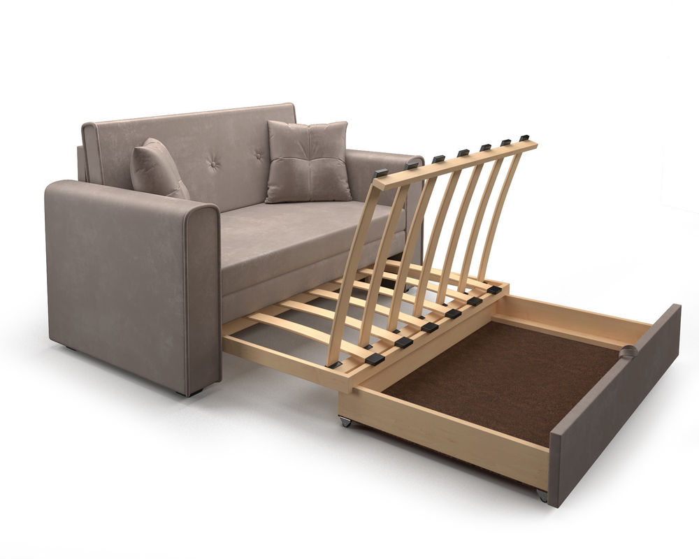 Диван Мебель-АРС Санта (бархат серо-шоколадный  STAR VELVET 60 COFFEE) - фото 6