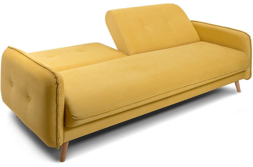Диван Woodcraft Стаус Velvet Yellow - фото 4