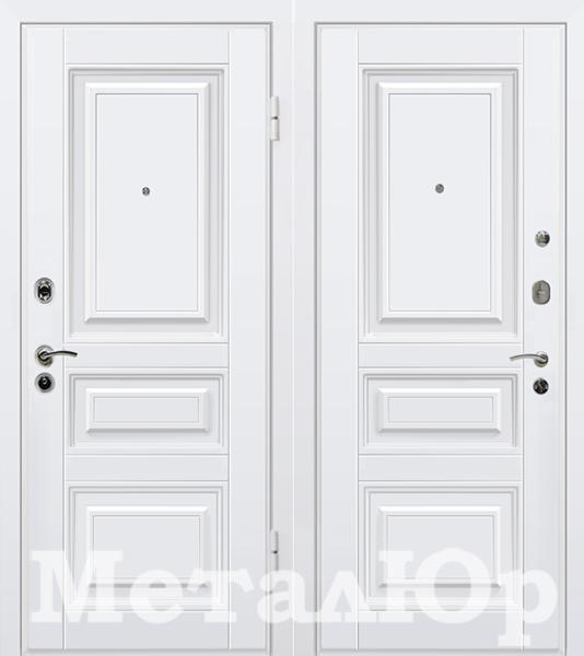 Входная дверь МеталЮр М11 (белый) - фото 1