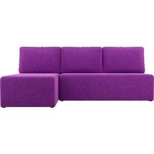 Диван АртМебель Поло угол левый микровельвет фиолетовый - фото 4