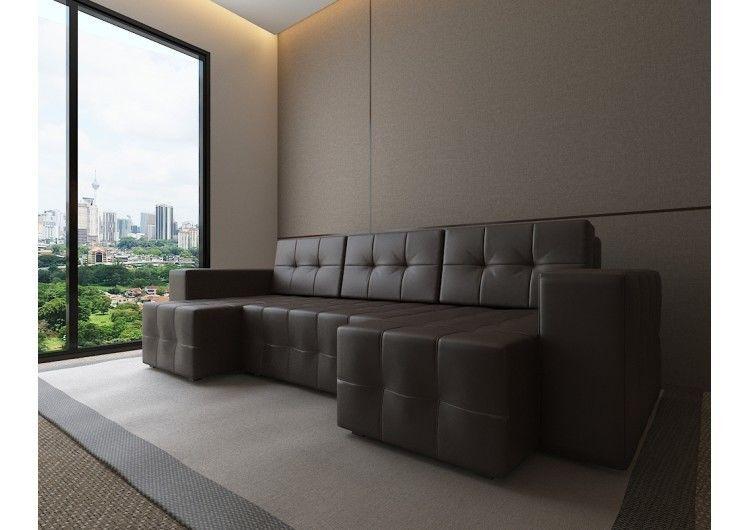 Диван Настоящая мебель Константин Питсбург П-образный коричневый - фото 1