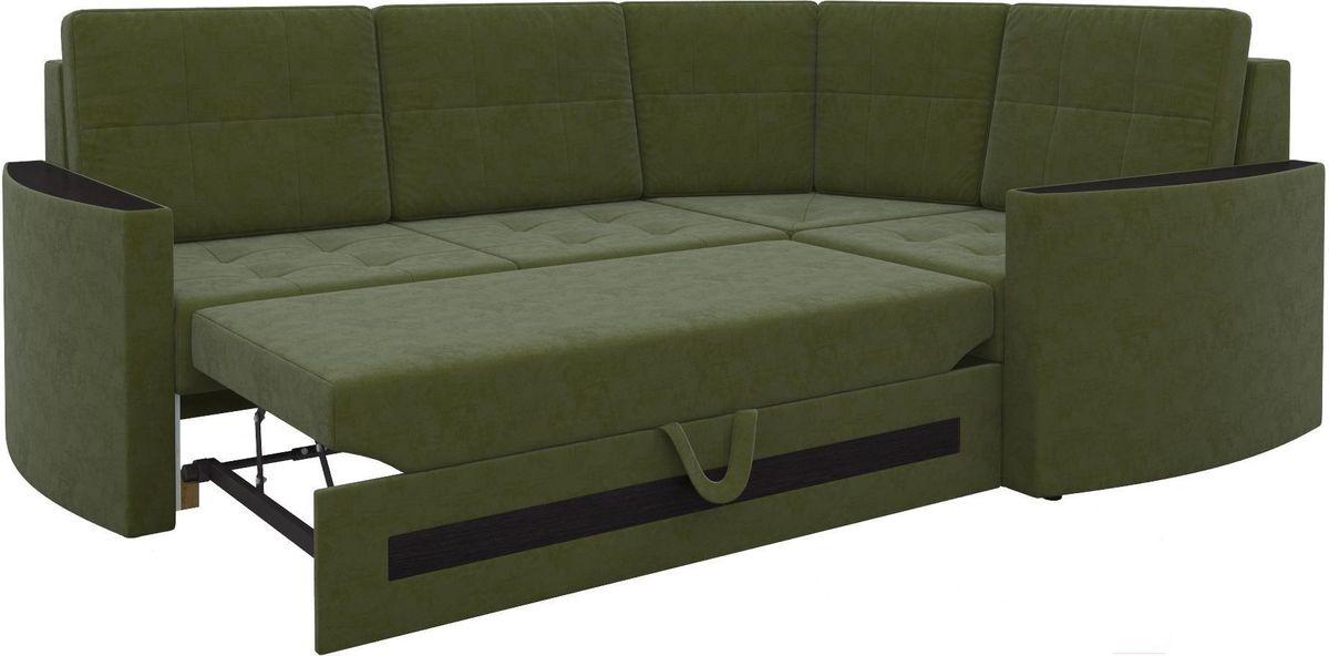 Диван Mebelico Белла У 476 правый вельвет зеленый - фото 3