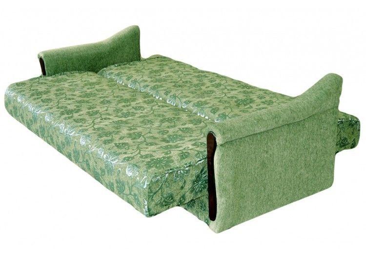 Диван Луховицкая мебельная фабрика Уют зеленый (120x190) пружинный - фото 2