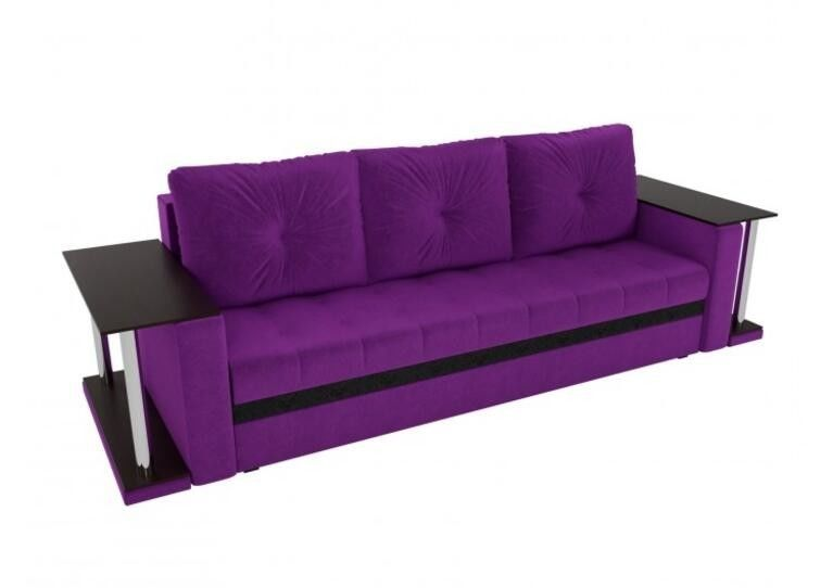 Диван Craftmebel прямой Атланта М фиолетовый вельвет - фото 2