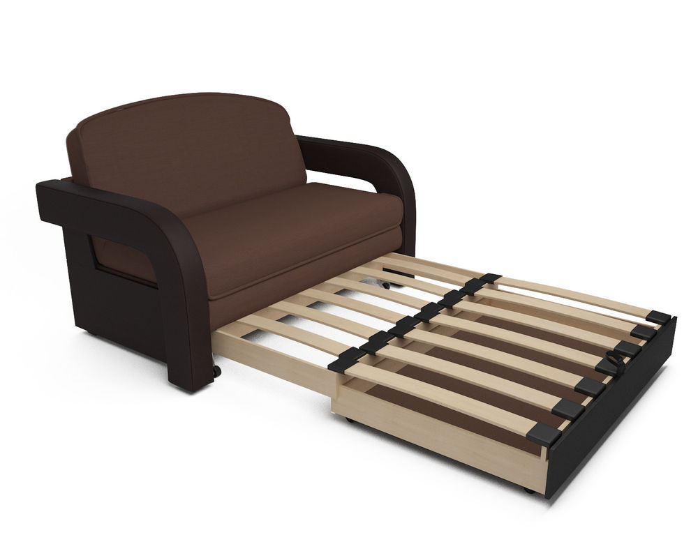 Диван Мебель-АРС Кармен-2 (рогожка шоколад + экокожа) - фото 4
