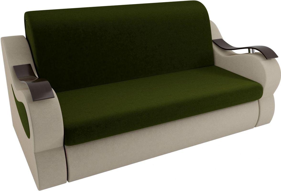 Диван Mebelico Меркурий 222 140, вельвет зеленый/бежевый - фото 2