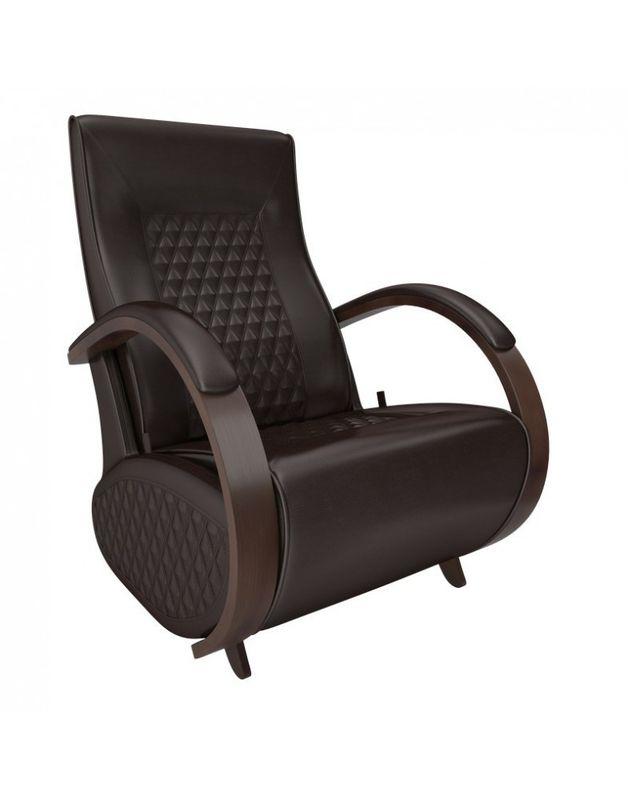 Кресло Impex Balance-3 экокожа орех (vegas lite black) - фото 3
