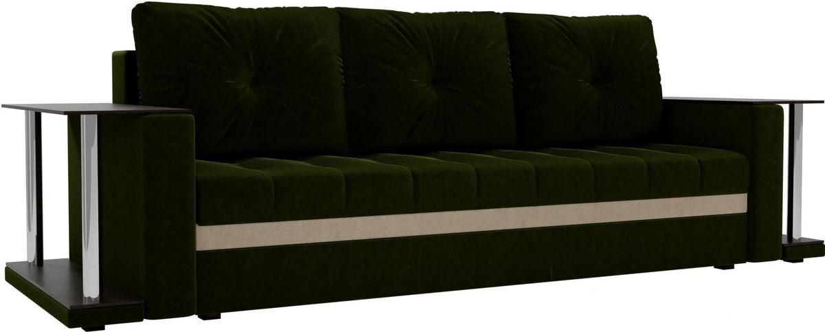 Диван Mebelico Атланта М 2 стола вельвет зеленый - фото 4
