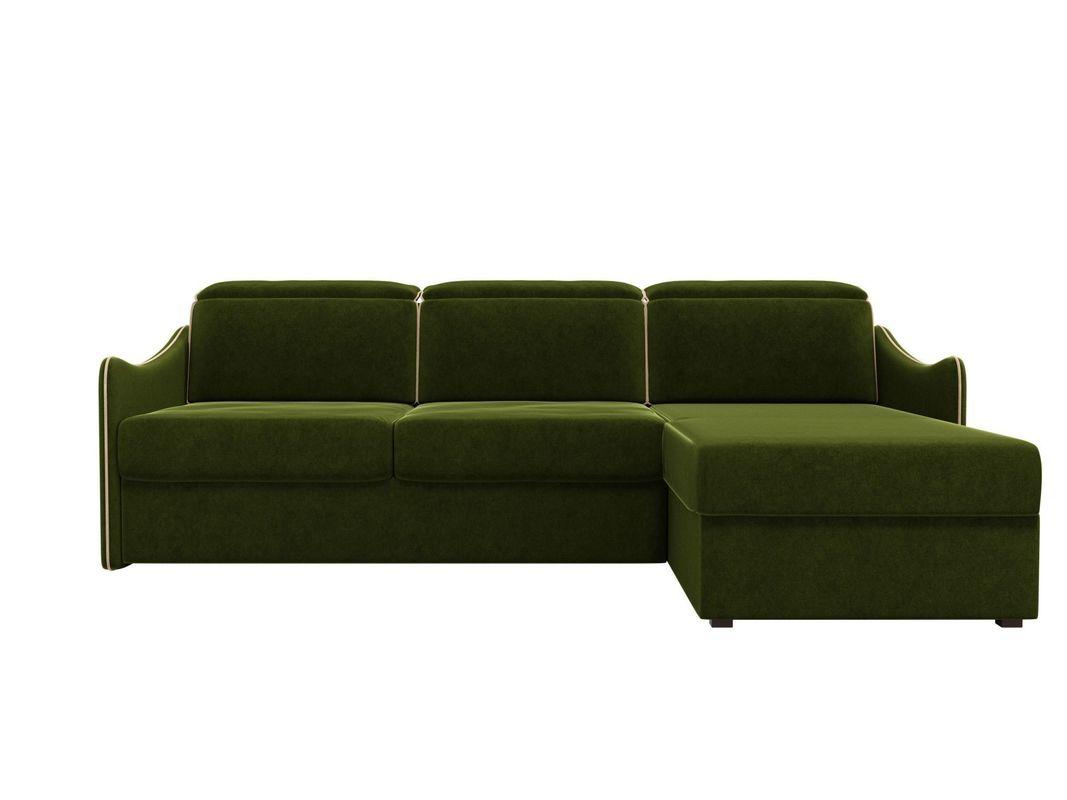 Диван ЛигаДиванов Скарлетт 125 угловой правый 60675 вельвет зеленый - фото 4