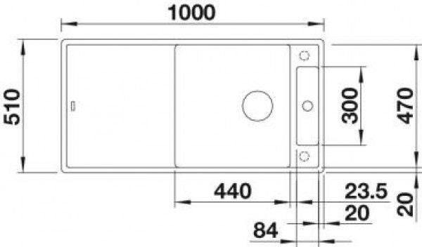 Мойка для кухни Blanco Axia III XL 6 S жемчужный (523503) разделочная доска из ясеня - фото 2