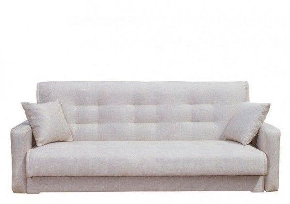 Диван Луховицкая мебельная фабрика Лондон рогожка бежевая (пружинный) 120x190 - фото 1