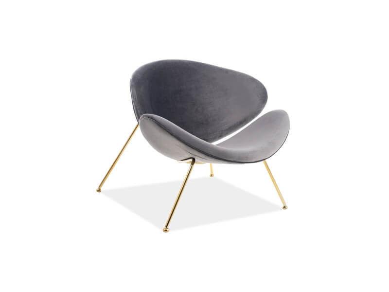 Кресло Signal MAJOR VELVET GOLD (серый) MAJORV14ZL - фото 1