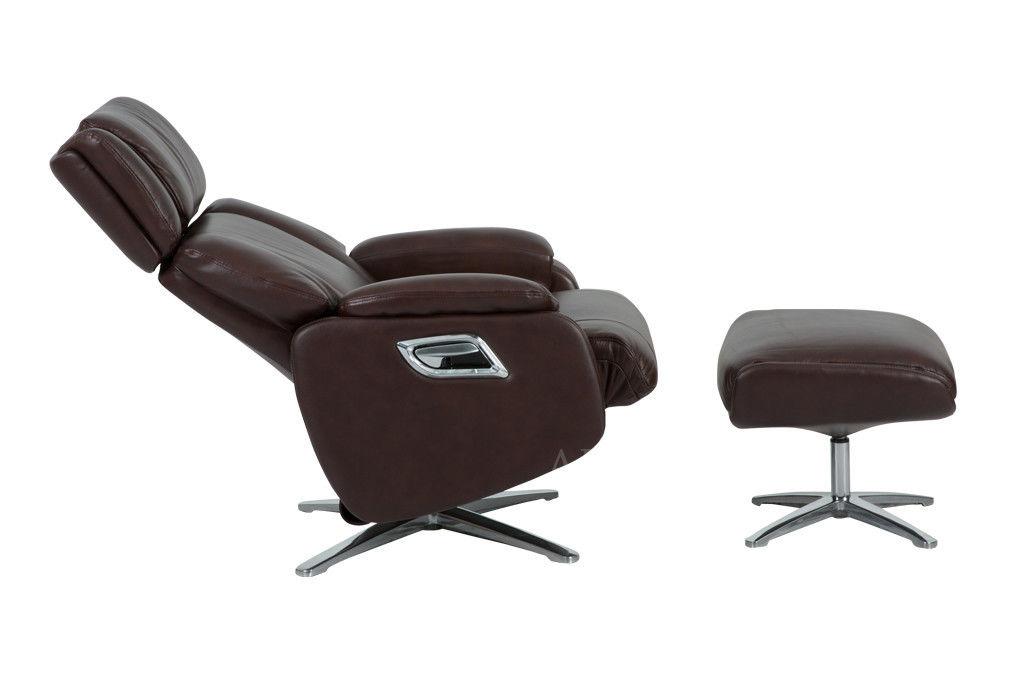 Кресло Arimax Dr Max DM02009 (Каштан) с подставкой для ног - фото 3