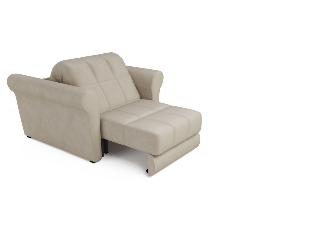 Кресло Мебель-АРС Гранд (бархат бежевый) - фото 5