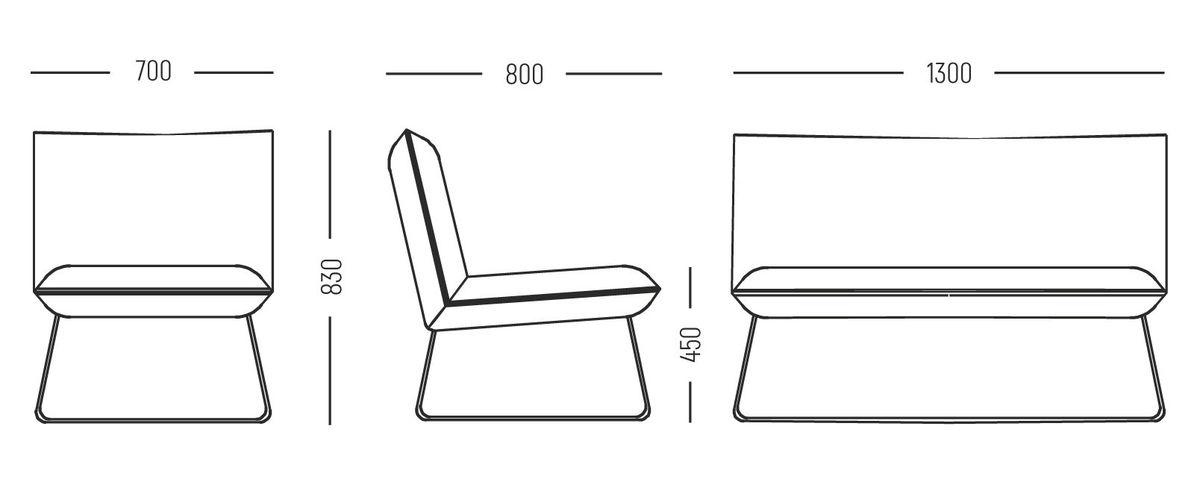 Кресло AUPI Лофт (1300x830x800) - фото 5