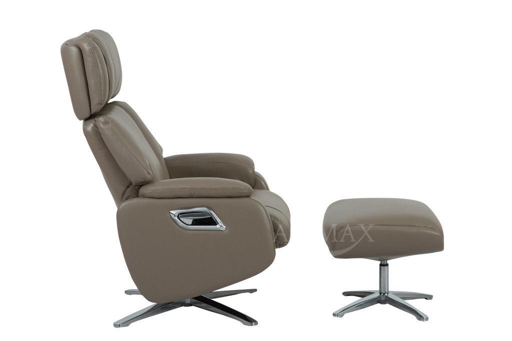 Кресло Arimax Dr Max DM02009 (Кофе с молоком) с подставкой для ног - фото 2