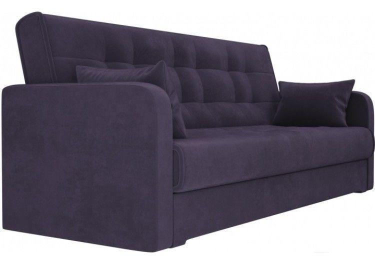 Диван Луховицкая мебельная фабрика Надежда (велюр фиолетовый) 120x180 - фото 2