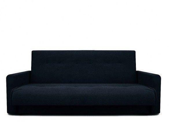 Диван Луховицкая мебельная фабрика Милан (Астра черный) пружинный 120x190 - фото 2