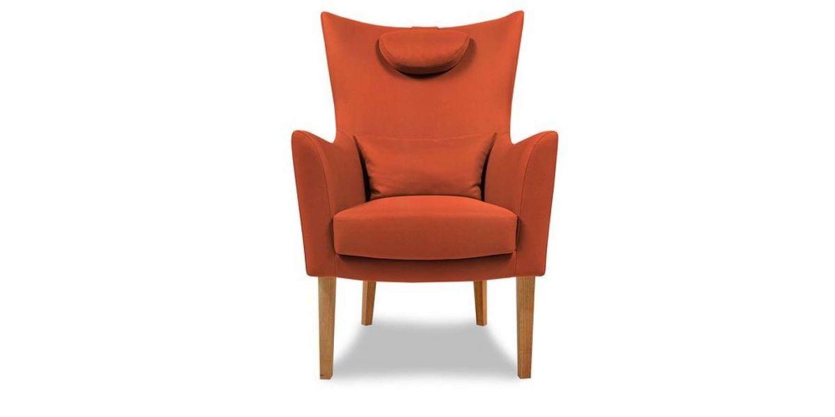 Кресло WOWIN Элеганза высокое (Терракотовый велюр) - фото 2