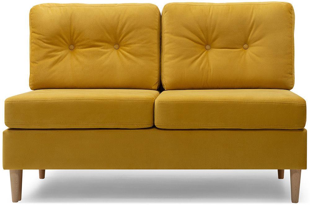 Диван divan.by Динс-1 Velvet Yellow (прямой) - фото 1