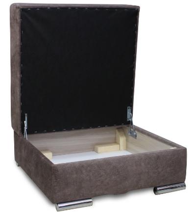 Пуфик Экомебель Милан с нишей для хранения (ткань склад) - фото 2